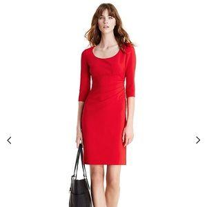 DVF Lillian 3/4 Sleeve Ruched Sheath Dress